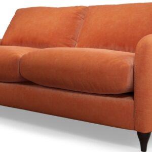 Custom MADE Sofia 2 Seater Sofa, Plush Coral Velvet
