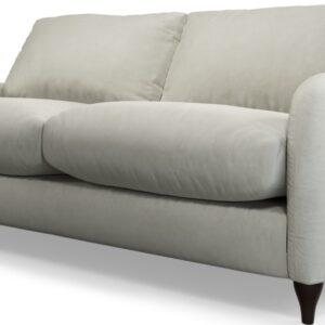 Custom MADE Sofia 2 Seater Sofa, Plush Silver Velvet