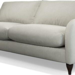 Custom MADE Sofia 3 Seater Sofa, Plush Silver Velvet
