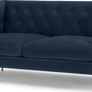 Goswell 2 Seater Sofa, Sapphire Blue Velvet
