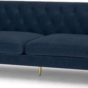 Goswell 3 Seater Sofa, Sapphire Blue Velvet