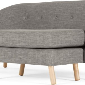 Lottie Compact Chaise End Corner Sofa, Chalk Grey