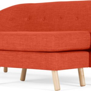 Lottie Compact Chaise End Corner Sofa, Tuscan Orange