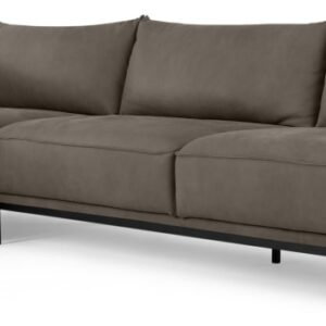 Odelle Left Hand Facing Chaise End Corner Sofa, Texas Grey Leather