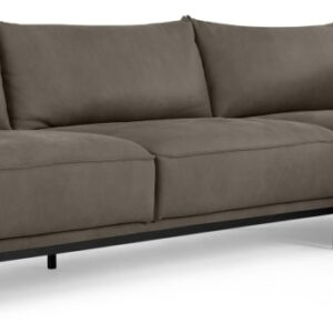 Odelle Right Hand Facing Chaise End Corner Sofa, Texas Grey Leather