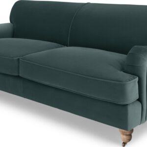 Orson 3 Seater Sofa, Marine Green Velvet