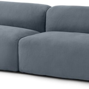 Avalon 3 Seater Sofa, Jeans Blue Linen & Cotton Mix Fabric