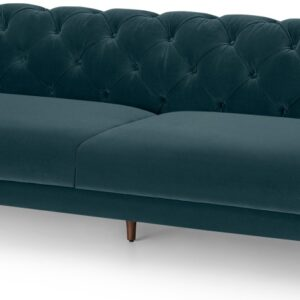 Barstow 3 Seater Sofa, Steel Blue Velvet
