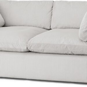 Samona 2.5 Seater Sofa, Stone Grey Corduroy Velvet