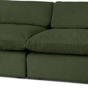 Samona 3 Seater Sofa, Sage Corduroy Velvet